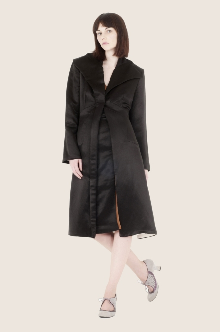 Hemp Silk Charmeuse coat